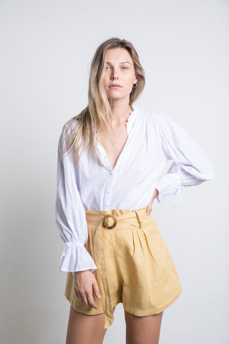 Lilya - Mohave Blouse in White