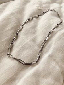 SQUARE CHAIN SILVER necklace • colar