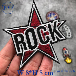 JOD Rocket DIY Iron on Patches for Clothing Decorative SPURS embroidery