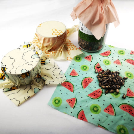 Beeswax Reusable Food Wraps, Sustainable, Eco Friendly, Reusable, Biodegradable
