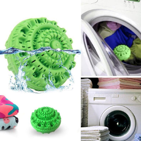 Eco-Friendly Green Laundry Ball Anion Molecule Cleaner up to 1500 washes.
