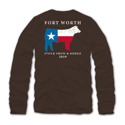 2019 Texas Pride Cow Long Sleeve T-Shirt - Back