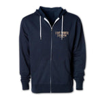 Men's Outerwear Worn In Full Zip Hoodie - Front