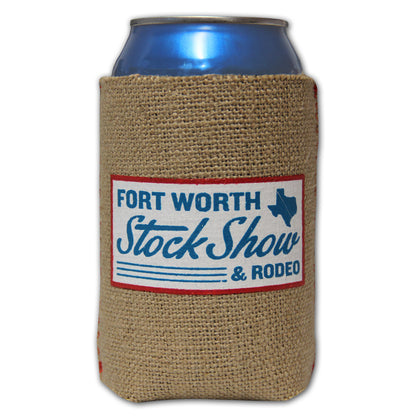 Novelty Burlap Country Koozie - Front