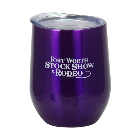 Novelty Purple Wine Glass - Front