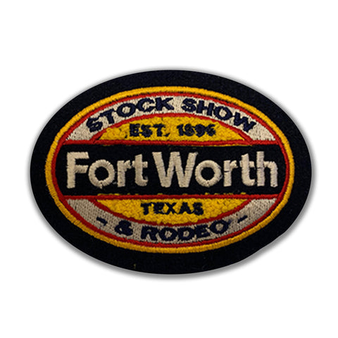 Novelty Fort Worth 2019 Chenille Patch - Front