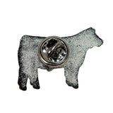 Novelty 2019 Cattle Lapel Pin - Back
