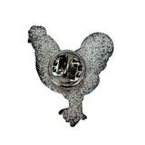 Novelty 2019 Chicken Lapel Pin - Back