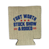 Burlap Country Koozie - Detail