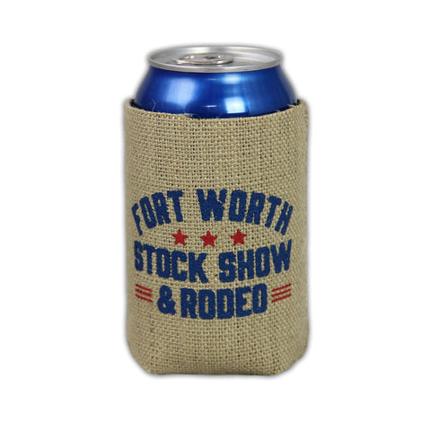 Burlap Country Koozie - Front