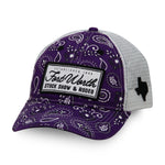 Purple Paisley Baseball Cap - Front