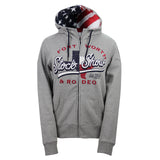 Women's Outerwear Red, White & Blue Hoodie - Front