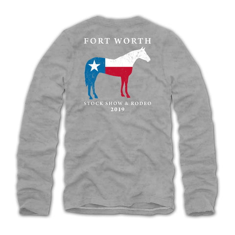 2019 Youth Texas Pride Horse Long Sleeve T-Shirt - Back