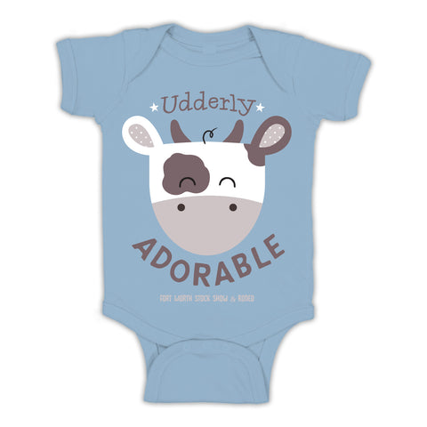 Boys Udderly Adorable Onesie - Front