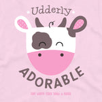 Girls Udderly Adorable Onesie - Detail