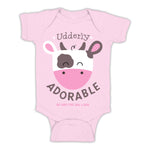 Girls Udderly Adorable Onesie - Front