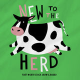 New To The Herd Green Onesie - Detail