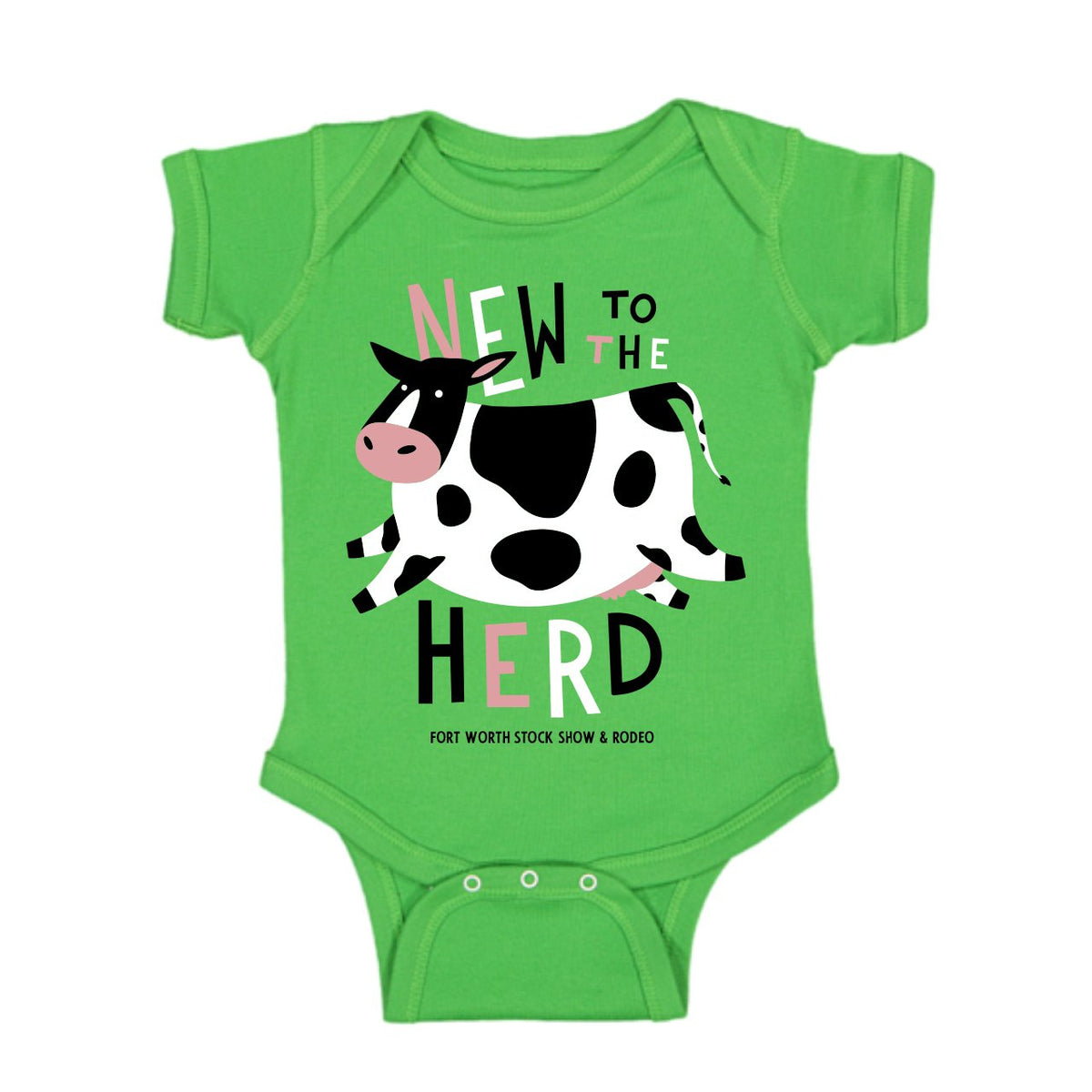 2020 FWSSR Youth Green New To The Herd Onesie