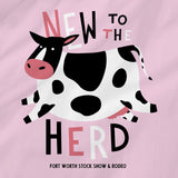 New To The Herd Pink Onesie - Detail