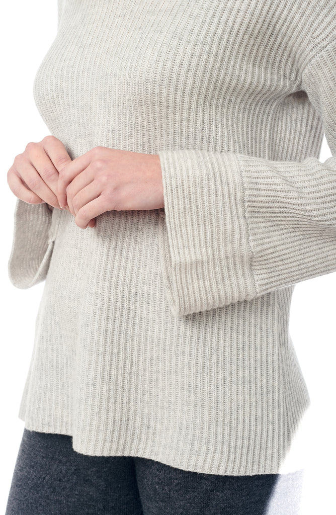 The Ribbed Bell Sleeve