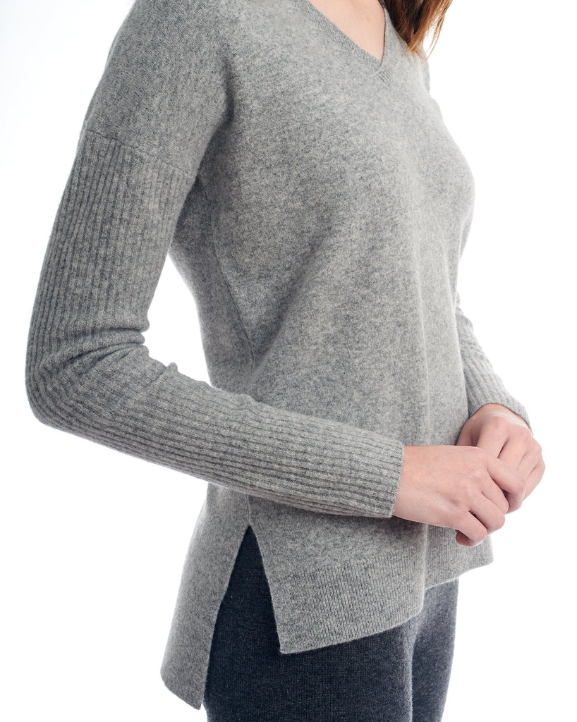 The Felted Boyfriend Vee Sweater