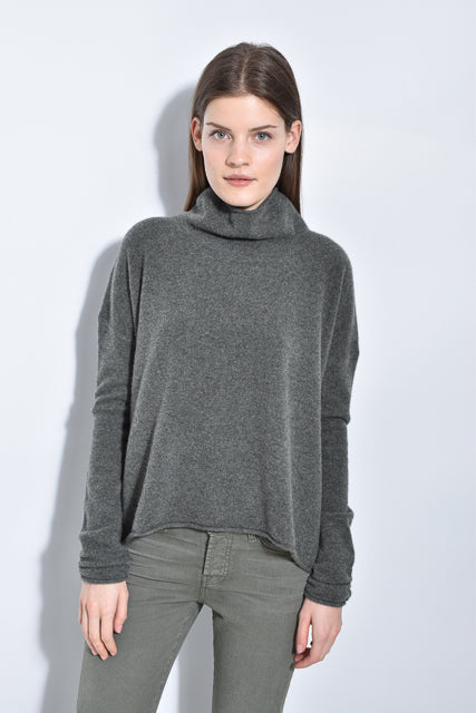 The Draped Mock Neck Sweater