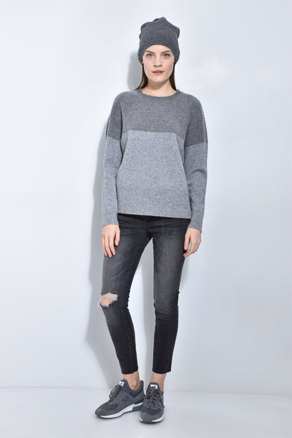 The Wide Rib Shoulder Sweater