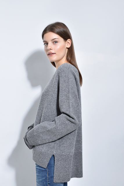 The Felted V-Neck Sweater