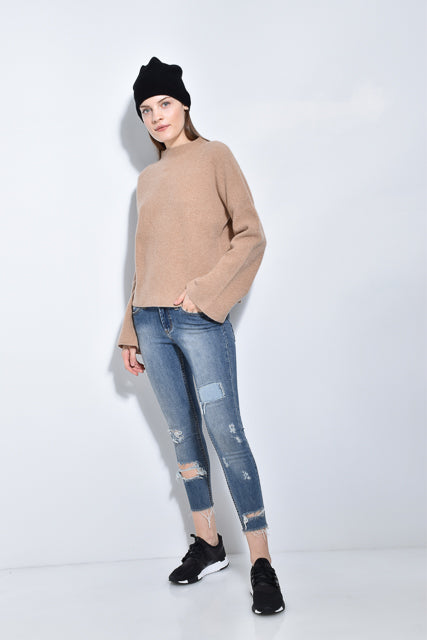 The Ribbed Bell Sleeve Sweater