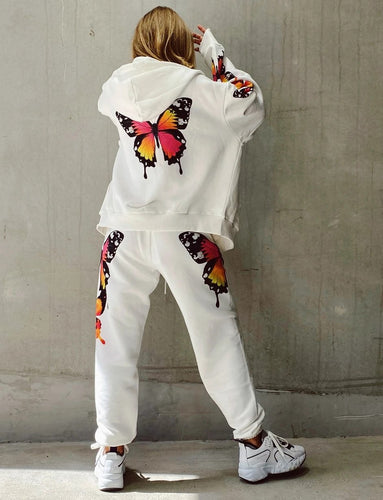 Butterflies Hoodie Coat and Pants  Set