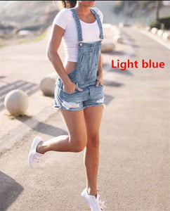 Denim Bib Overall Shorts