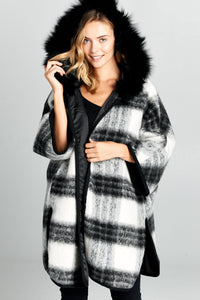 Oversize Jacket With Furry Hood