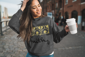 Gray FAITH Crewneck Pullover