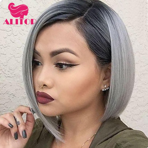 ALITOP Short Lace Front Wigs