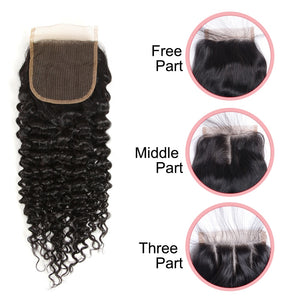 Remy Forte Curly Bundles With Closure