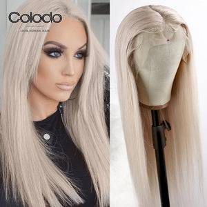 COLODO Ash Blonde Lace Front Wig