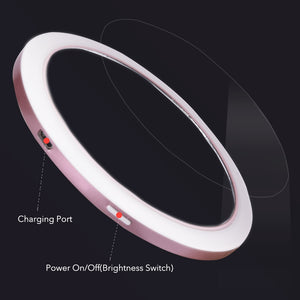 Portable Wireless USB Charger LED Light Makeup Mirror