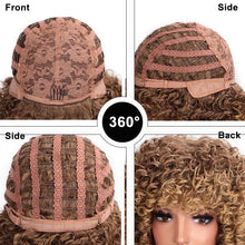 ELEGANT MUSES Curly Synthetic Blonde Heat Resistant Wig