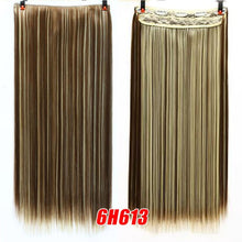 SHANGKE 5 clip Natural Silky Straight Hair Extentions