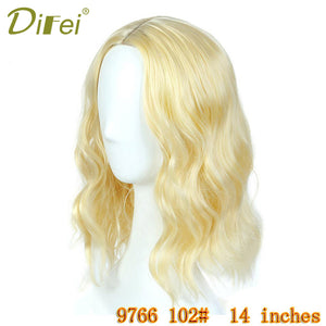 "DIFEI 14"" Short Synthetic Light Wave Wig"