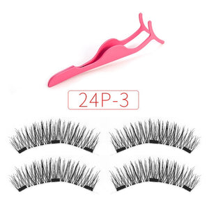 Shozy Magnetic Eyelashes with 3 magnets with applicator
