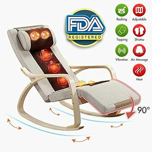 Electric Full Body Shiatsu Massage Chair Recliner Zero Gravity w/Heat Rocking Chair