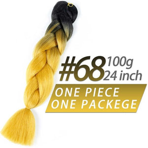 "24""Jumbo Pre Stretched Ombre Braiding Hair Extensions"