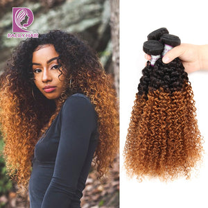 Racily Hair Ombre Kinky Curly Hair Bundles