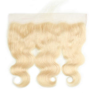Brazilian Body Bundles With Closures Frontals Honey Platinum