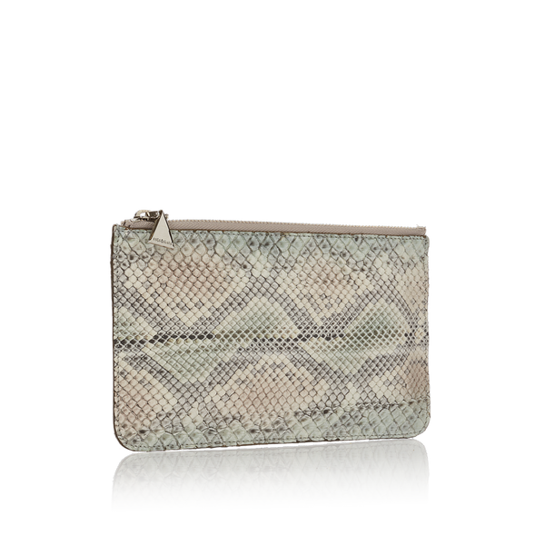 Python Top Zip Pouch - Green