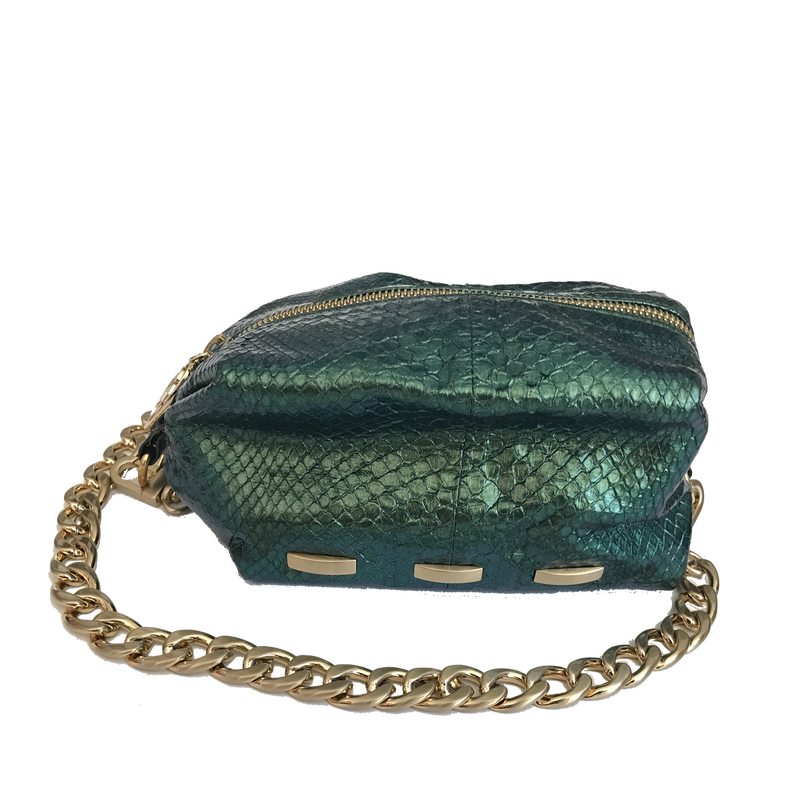 Cosmo - Python Pouch Bag - Green