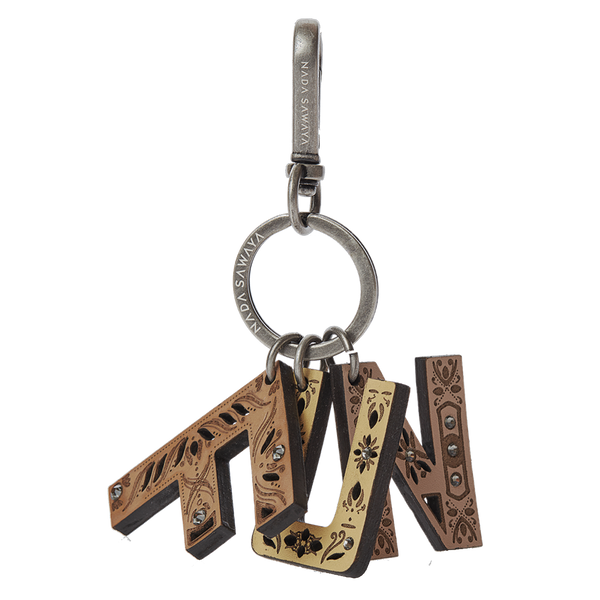3-Letter Laser Cut Leather Charm - FUN