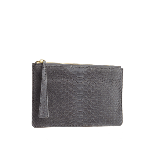 Python Top Zip Pouch - Grey
