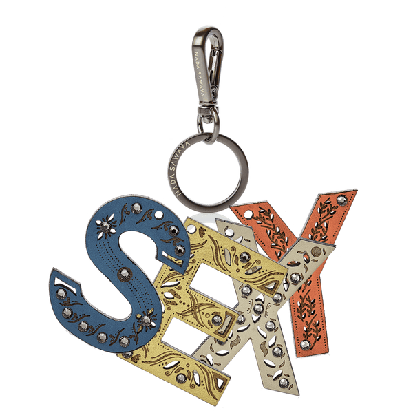 4-Letter Laser Cut Leather Charm - sExY